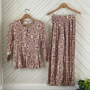 Casual Boho Matching Lounge Outfit